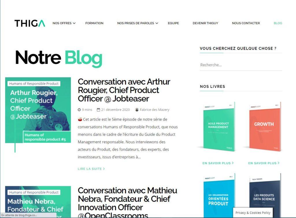 Blog Thiga
